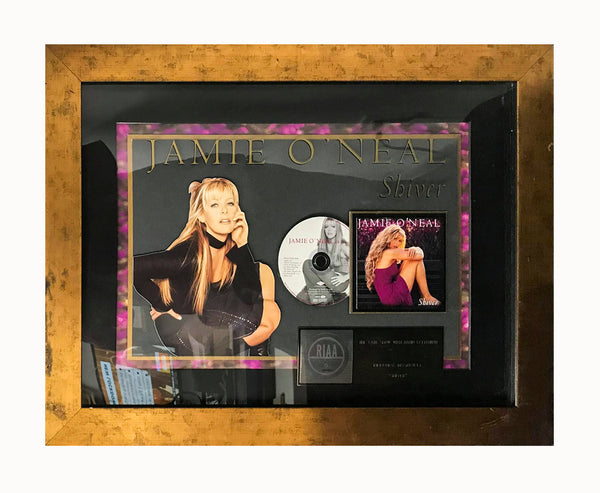 "JAMIE O'NEAL ""Shiver"" 2001 RIAA Gold Sales Award - $5K APR Value w/ CoA! +✓"