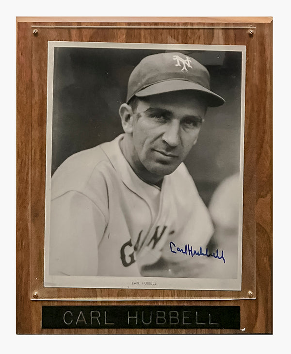 CARL HUBBELL 1950s Autographed Black and White Portrait - $1K APR Value w/ CoA!