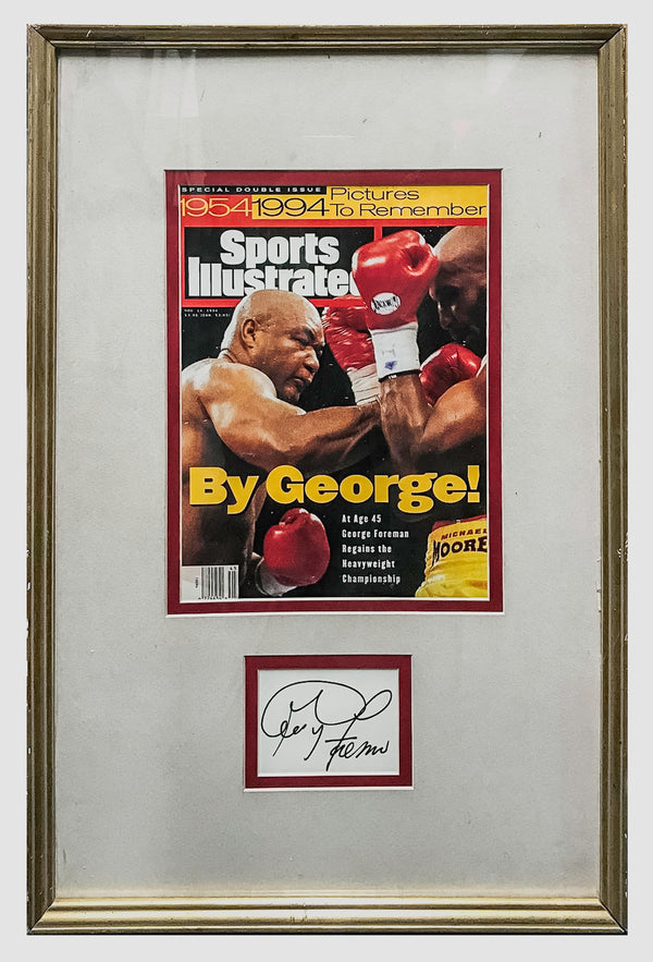 George Foreman Framed Autograph with1994 Sports Illustrated Cover - $3K APR Value w/ CoA!