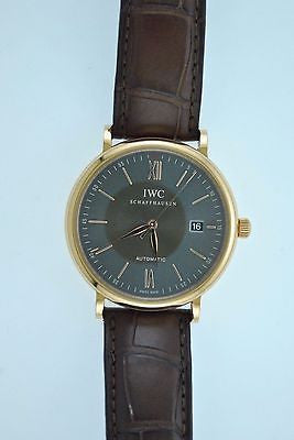 IWC Schaffhausen Portofino Vintage 18K Rose Gold Automatic Wristwatch - $20K VALUE