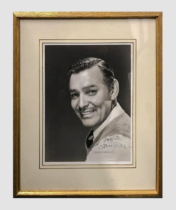 CLARK GABLE Autographed Silver Gelatin Print, C. 1940 - $6K APR Value w/ CoA +✓