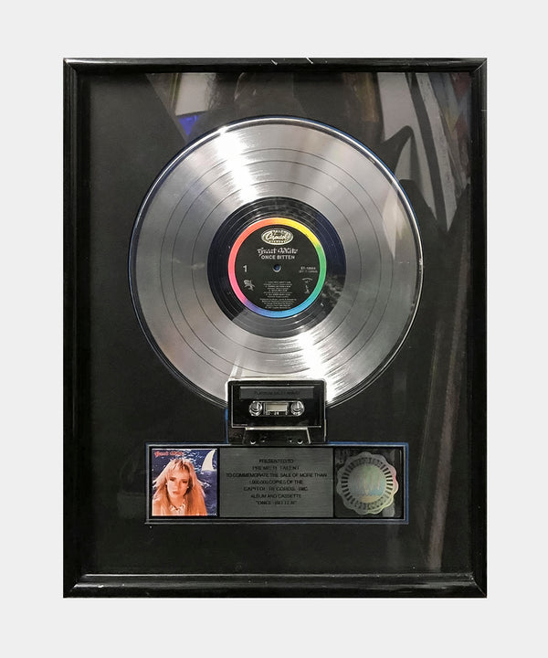 "GREAT WHITE ""Once Bitten"" 1988 RIAA  Platinum Record Award - $6K APR Value w/ CoA +✓"