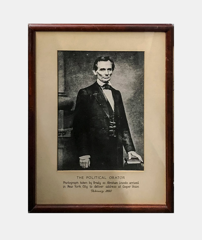 "Mathew Brady ""Abraham Lincoln"" Lithograph on Paper c.1980s - $600 Appraisal Value!"