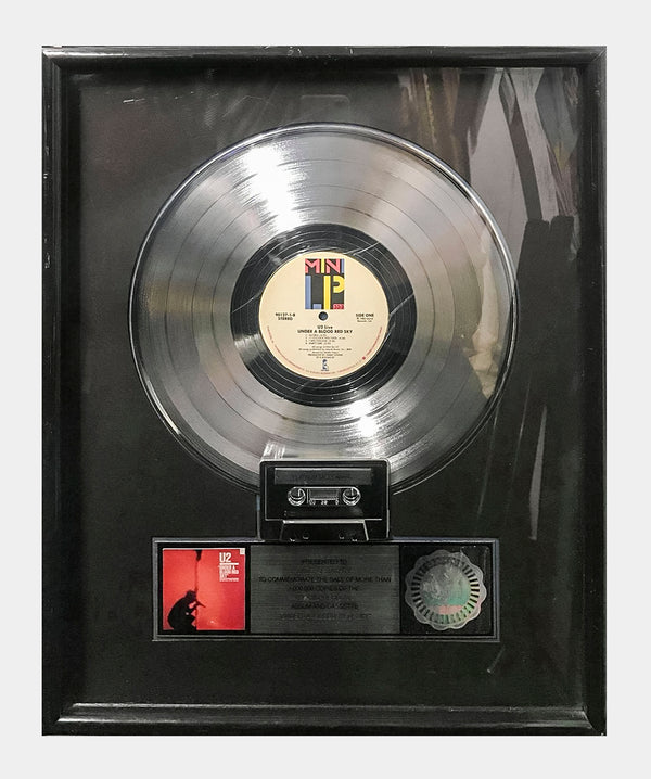"U2 ""Under a Blood Red Sky"" 1983 RIAA Platinum Record - $20K APR Value w/ CoA! +✓"