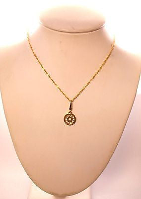 Contemporary Bvlgari 18K Yellow Gold Sun Necklace on 16'' Chain - $6K VALUE
