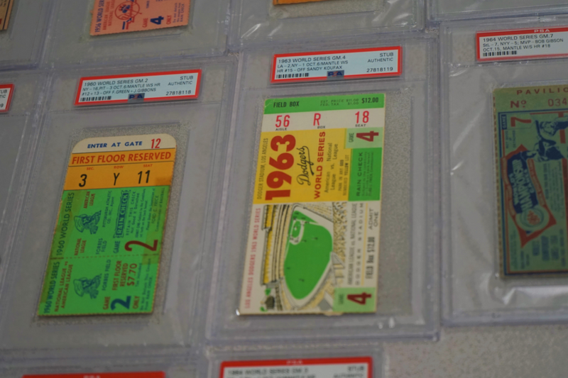 MICKEY MANTLE World Series Tickets Collection 1952-1964 - $20K VALUE