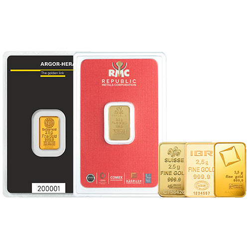 2.5 Gram Gold Bar (Varied Condition, Any Mint)