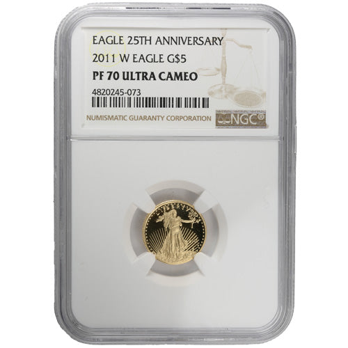 2011-W 1/10 oz Proof American Gold Eagle Coin NGC PF70 UCAM