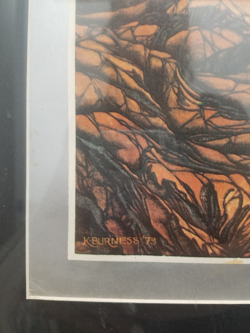 K BURNESS Rolling Stones Original Poster, Limited Edition, C. 1973 - $20K VALUE*
