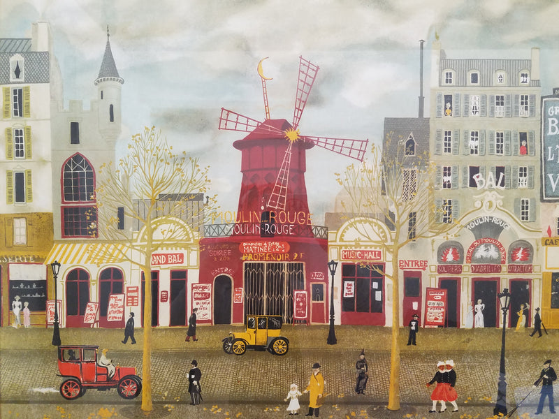 "MICHEL DELACROIX, ""Moulin Rouge"", Ltd Ed (29/100) Lithograph in Color, c. 1981 - APR $3K Value*"
