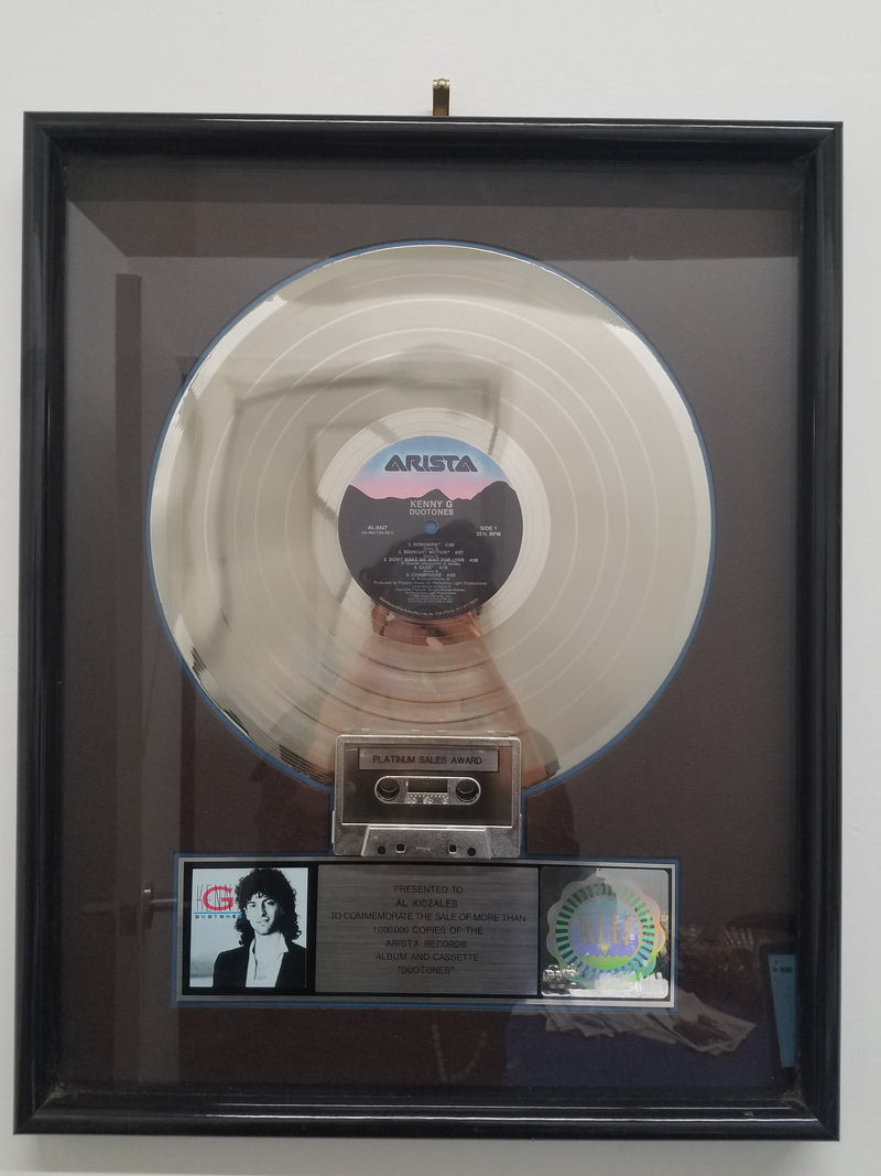 "KENNY G ""Duotones"" 1986 Platinum Sales Award Presented  - $5K APR Value w/ CoA! +✓"