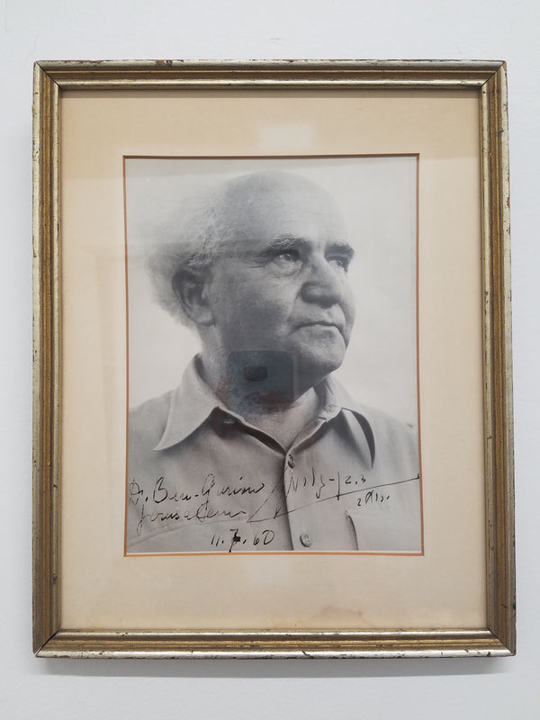 David Ben-Gurion, First Prime Minister of Israel, Signed Photograph, c 1960 - APR $15K*