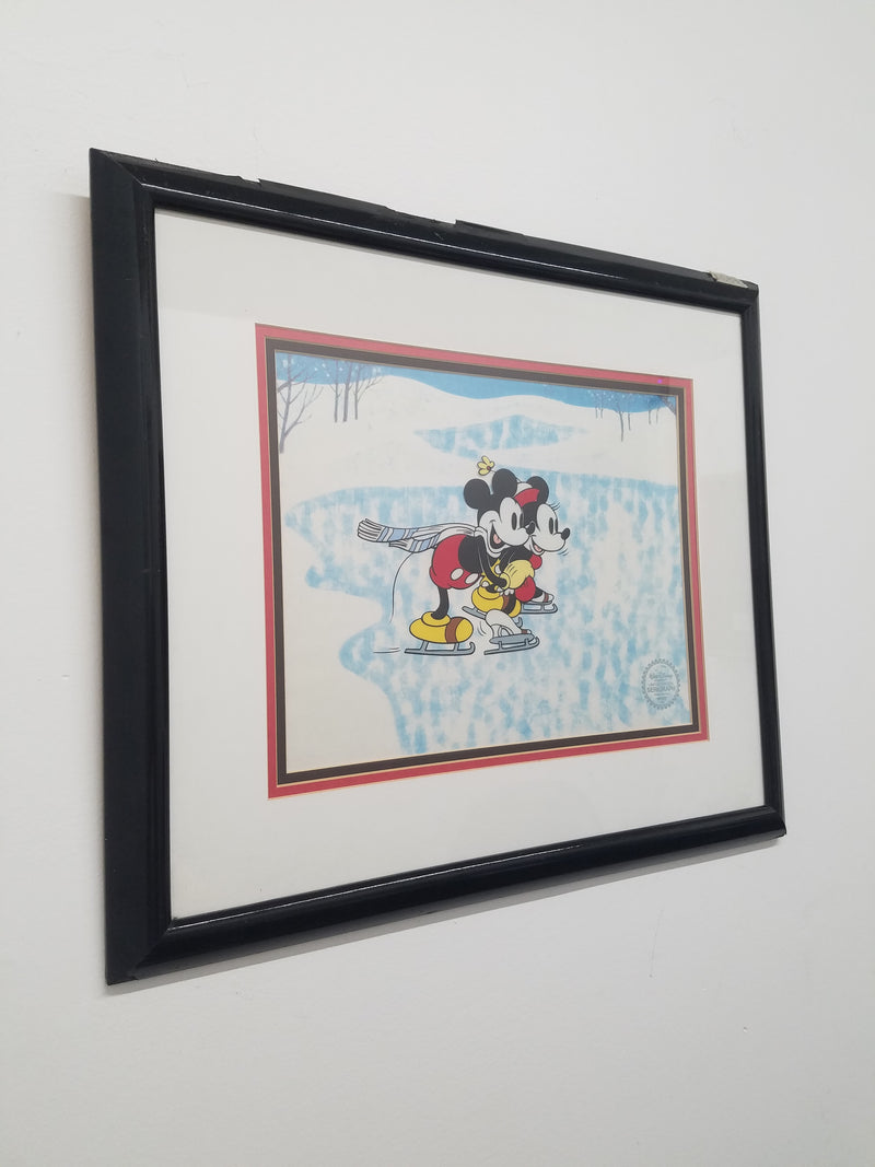 """The Skating Lesson"", Limited Edition Serigraph Cel, c. 1980s - Apr $2K*"