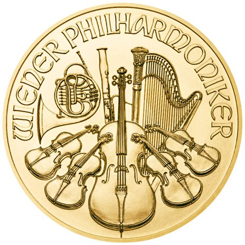 1 oz Austrian Gold Philharmonic Coin (Random Year, BU)