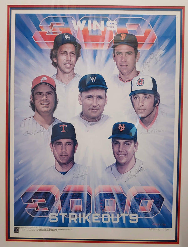 "DOO S. OH ""3000 Strikeouts & 300 Wins""  Signed Lithograph Print #45/100 - $10K APR Value w/ CoA! ✓"