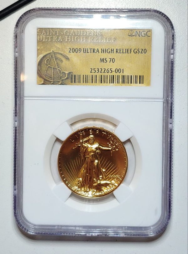2009 Ultra High Relief Liberty Double Eagle Saint Gaudens MS-70 (NGC) - $4K APR Value w/ CoA! ✿✓