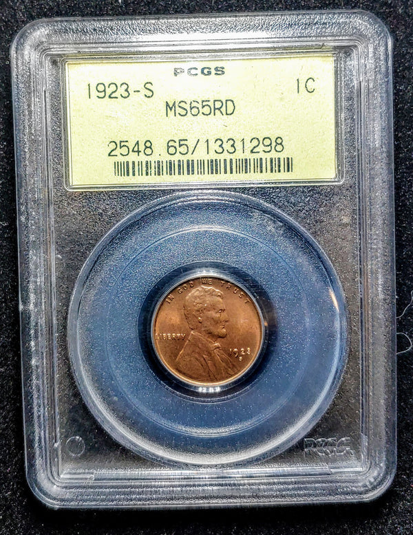 1923-S One Cent Lincoln Wheat MS-65 (PCGS) - $200K APR Value w/ CoA! ✿✓