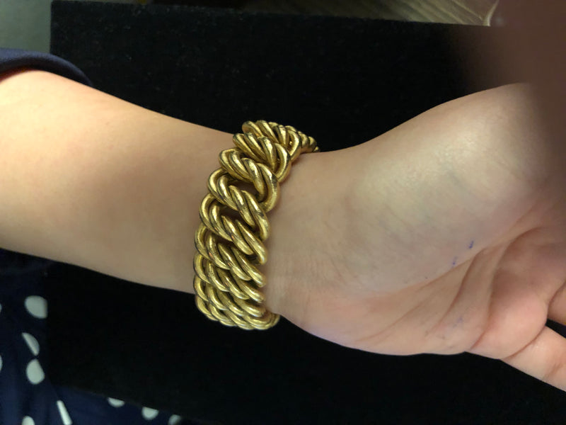 BUCCELLATI Vintage Circa 1940's Amazing 18K Yellow Gold Woven Bracelet - $15K Appraisal Value! ✓