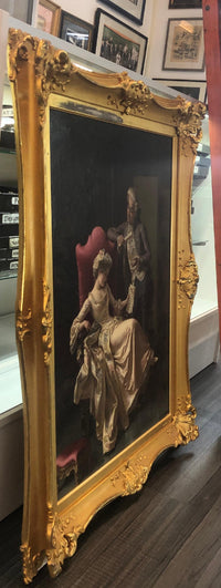 PIO RICCI Italian Romantic Original Oil on Canvas, c. late 1800s - Appraisal Value: $125K*