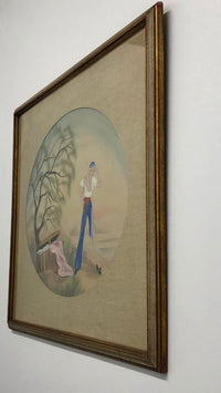 C. Fredrick, 'Pirate Woman,' Watercolor Illustration, Signed, c. 1990s - Appraisal Value: $5K*