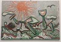 "TYREE DAVIS aka DRED 66, ""Sky Scrapppersss"", Grafitti Style Mixed Media, 2003 - Appraisal Value: $5K *"