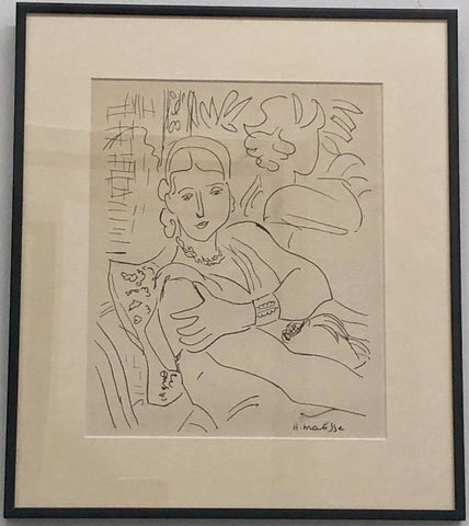 "Henri Matisse ""Lady Reclining with Hat"" Original Print C.1900s Est. $40K Apr Val"