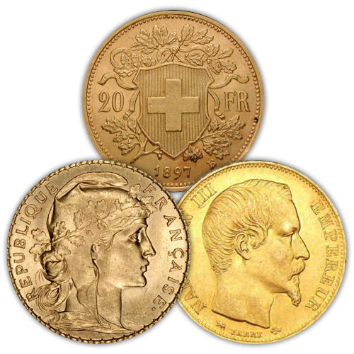 20 Francs Gold Coin (Random Year/Country, VG+)