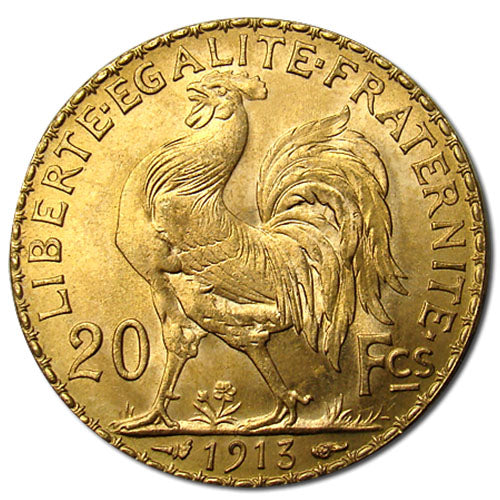 20 Francs France Gold Coin – Rooster (BU)