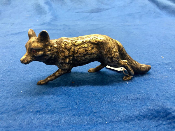 Jean L. Schlingloff Sly Fox Figurine Statue Marked Circa 1910's in German Silver - $10K VALUE *
