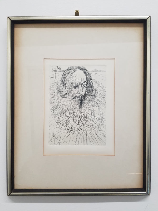 'Cervantes' by Salvador Dali, c. 1965, Print Signed on Plate - Appraisal Value: $6K*