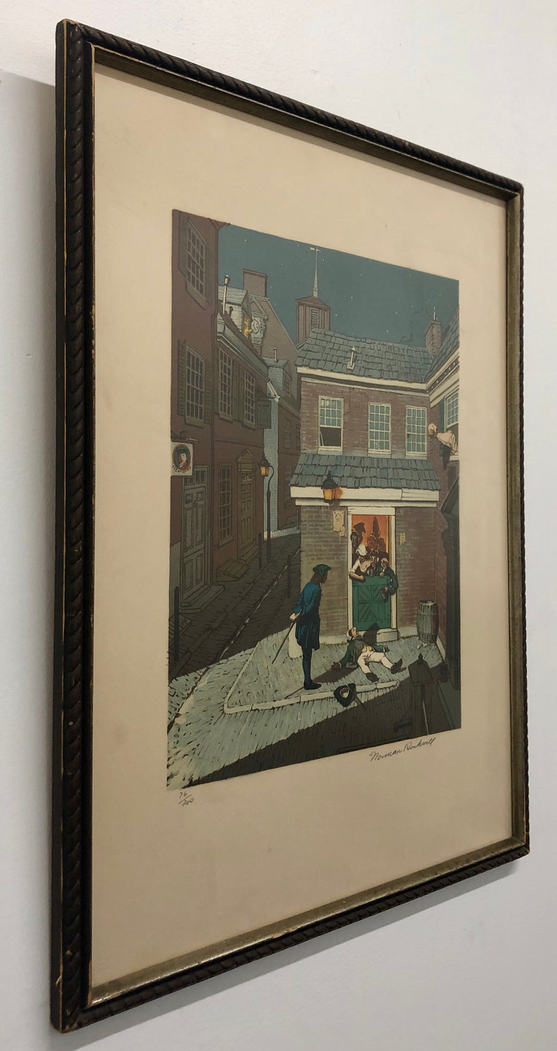 "NORMAN ROCKWELL ""The Drunkard"", 1973, Signed Limited Edition Lithograph (76/200) - Appraisal Value: $8K*"