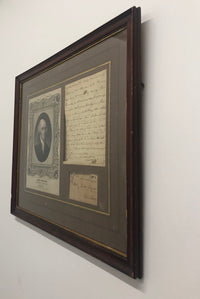 JAMES MADISON Handwritten Letter to Charles Grymes, 1793 with Portrait, Framed - $30K VALUE*
