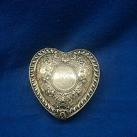 GORHAM Sterling Silver Repoussé Heart Jewelry Box Circa 1892 Victorian $1.5K Apr