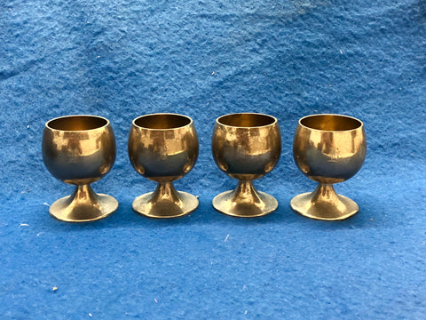 Tiffany & Co. Sterling Silver 4 Cordial Cups Monogram G 22595 1938 $2K Apr Value