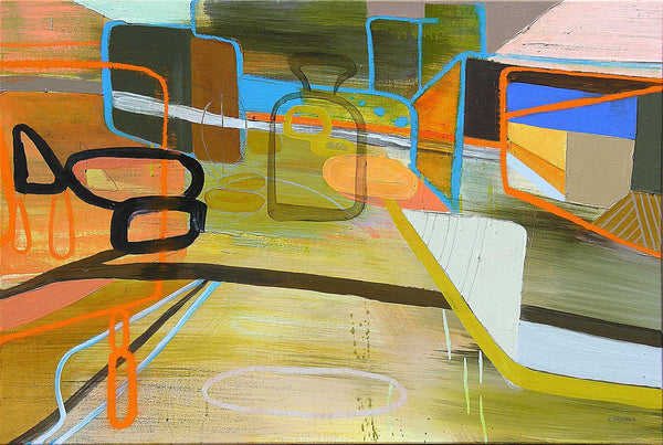 Jean Arnold, '32nd St / City Park: Eastbound,' Urban Motion Series, Oil on Canvas, Unframed, 2010 - Appraisal Value: $6K