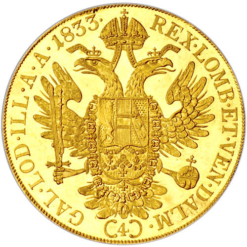 4 Ducat Austrian/Dutch Gold Coin (Random Year, AU/BU)