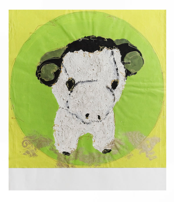 Sandrine Comas, 'The Sheep,' Acrylic on Canvas, Contemporary - Appraisal Value: $5K!