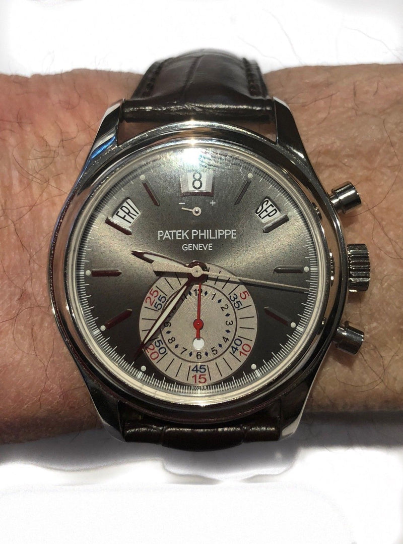 PATEK PHILIPPE Annual Cal Chron Plat 5960P-001 Men's Watch - $130K VALUE w/ CoA!