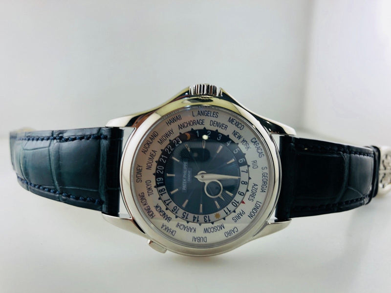 Patek Philippe World Time #5130 Automatic Men's Watch Platinum $90KVALUE,w/Cert!