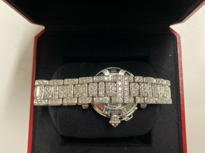 CARTIER Limited Edition Pasha de Cartier Full Factory 18K White Gold Watch w/ 273 Diamonds, Ref. 2528! - Certified Authentic - $129K Appraisal Value! ✓