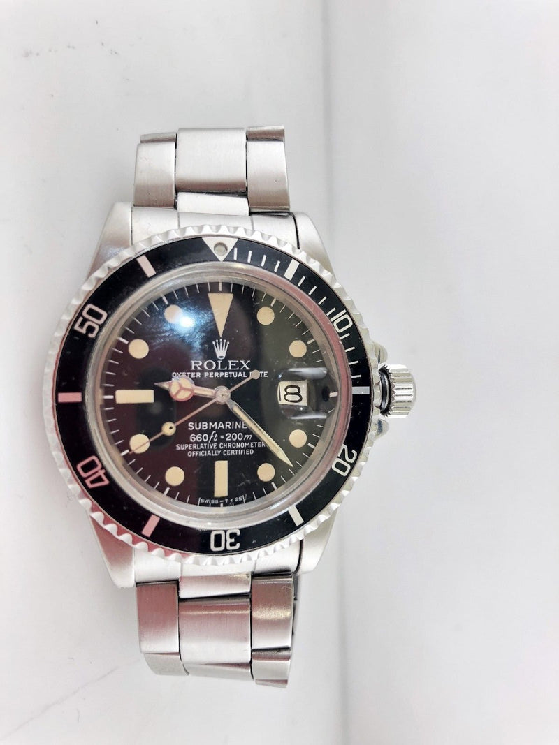 Rolex Submariner 1st Edition w/Date Automatic Watch C.1970's SS $40K VALUE