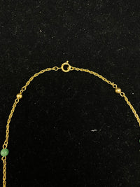 1930's Antique GT Jade style Bead Necklace $1.5K Appraisal Value w/ CoA!