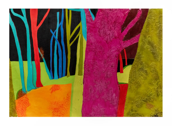 Sandrine Comas, 'Abstract Forest,' Acrylic on Canvas, 2006 - Appraisal Value: $9.5K!