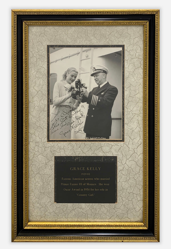 Grace Kelly Signed & Framed Photograph with Plaque c. 1950s - $10K Apr. Value*