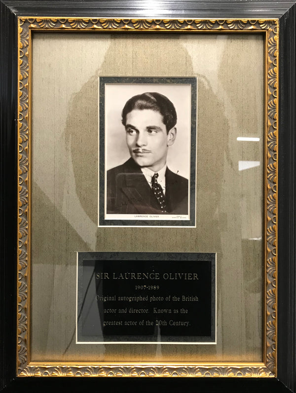 Laurence Olivier Autographed Photo, 1935 - $6K Value*