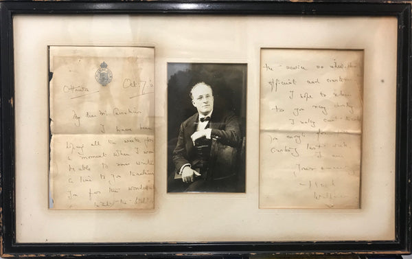 Hugh Walpole Four-Page Letter to the Manager of the Waldorf-Astoria, c.1922. $3K Value!