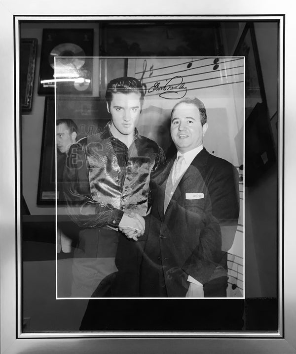 ELVIS PRESLEY Signed Photo Backstage at the Ed Sullivan Show, 1957 - APR $10K Value!*