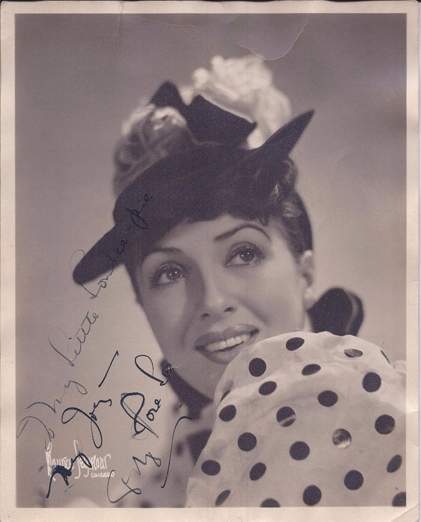 Legendary Burlesque Artist Gypsy Rose Lee Autographed and Inscribed Photo - Appraisal Value: $6K*