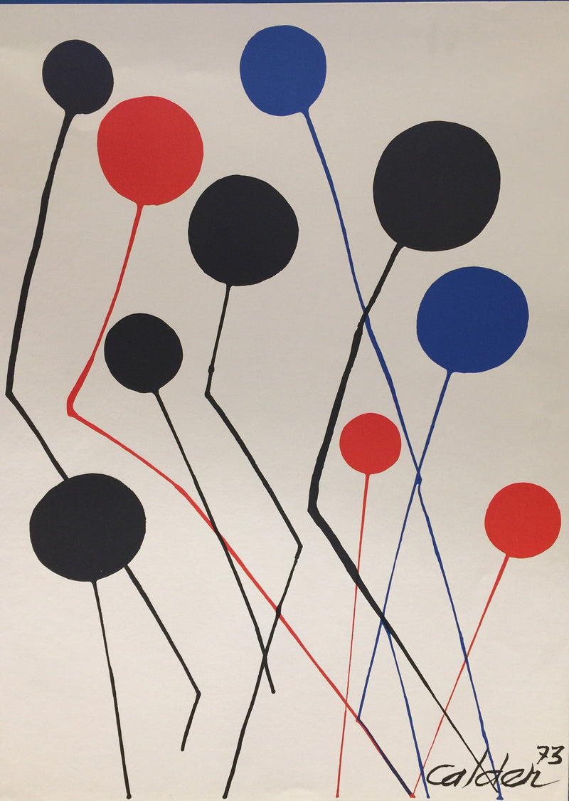 ALEXANDER CALDER, BALLOONS, Original Lithograph Print, Signed & Dated '73 with CoA - $10K Apr Value!*