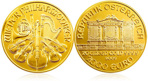 Austrian Philharmonics Uncirculated Gold Coins